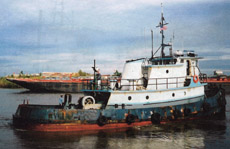 West coast tugboat for sale with triple rudder